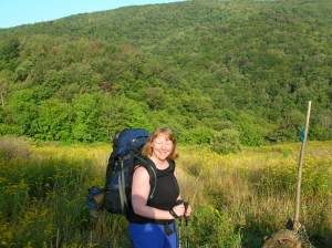 Backpacking doing a very reasonable 13.5 miles in 2 days. I don't have any photos from the epic backpack--you don't stop for pictures when you're doing a 25-mile day!